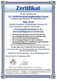 10. IGVM-Versicherungsmakler-Forum