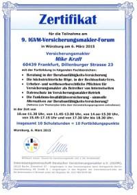 9. IGVM-Versicherungsmakler-Forum