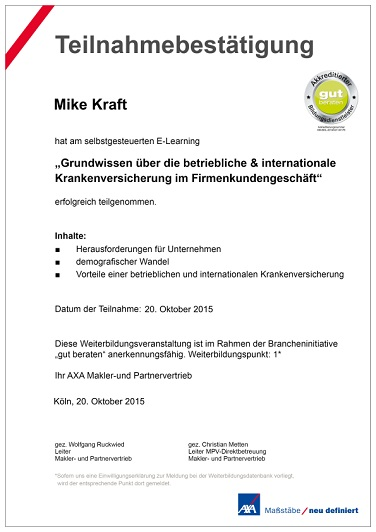 Firmenkunden betriebliche & Internationale Krankenversicherung